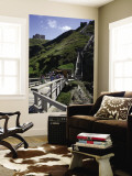 Steep Wooden Steps Up to Tintagel Castle. Wall Mural by Doug McKinlay