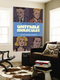 Fantastic Four: Unstable Molecules Cover: Fantastic Four Mural por Craig Thompson