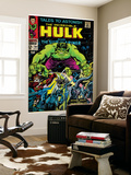 Marvel Comics Retro: The Incredible Hulk Comic Book Cover #101, with the Sub-Mariner (aged) Mural
