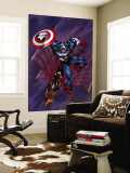 Captain America & The Falcon 4 Cover: Captain America and Falcon Wall Mural by Bart Sears
