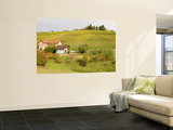 Vineyard at Village in Jeruzalem Wine Region Wall Mural by Richard Nebesky