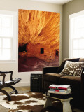Ancestral Puebloan Cliff Dwellings at House on Fire Ruin in Mule Canyon, Cedar Mesa Wall Mural by Karl Lehmann
