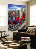 Spider-Man Swinging In the City Wall Mural