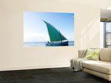 Dhow Sailing Off Coast of Vilanculos Wall Mural by Oliver Strewe