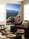 Climbers Hands Holding Onto Rock Ledge, Alberta, Canada Wall Mural by Philip & Karen Smith