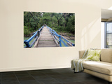 Wooden Swing Bridge at Dray Sap Waterfall Wall Mural by Paul Kennedy