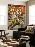 Marvel Comics Retro: Luke Cage, Hero for Hire Comic Book Cover No.14, Fighting Big Ben (aged) Wall Mural
