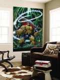 The Thing 2 Cover: Thing, Nighthawk and Constrictor Reproduction murale g&#233;ante par Andrea Di Vito