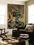 Spider-Girl No.86 Cover: Spider-Girl, Apox, J2, Hulk and Nova Fighting Wall Mural by Ronald Frenz
