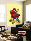 New Mangaverse No.1 Cover: Spider-Man, and Mary Jane Watson Wall Mural by Tommy Ohtsuka