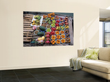 Fruit for Sale on Boat Wall Mural by Judy Bellah