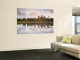Angkor Wat and its Reflection Wall Mural by Tim Hughes