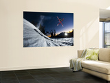 Skier Jumping and Grabbing His Skis at Mout Bachelor Wall Mural by Tyler Roemer