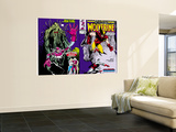 Marvel Comics Presents No.10 Cover: Wolverine, Colossus, and Spider-Man Jumping Wall Mural by John Buscema