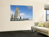 Port of San Francisco Sign and Ferry Building Clock Tower Wall Mural by Sabrina Dalbesio