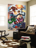 Avengers No.84 Group: Captain America, She-Hulk, Lionheart, Iron Man, Hawkeye and Avengers Wall Mural by Scott Kolins