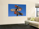 Walking Track Distance Signs Wall Mural by Holger Leue