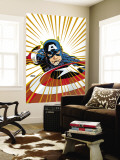 Captain America V4, 27 Cover: Captain America Fighting Wall Mural by Dave Johnson