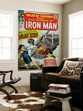 Marvel Comics Retro: The Invincible Iron Man Comic Book Cover No.53, Black Widow Strikes Again Wall Mural