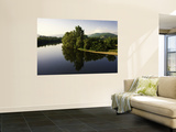 Still Waters of the Dordogne River in Early Morning, from Beynac Village Wall Mural by Barbara Van Zanten