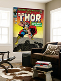 Marvel Comics Retro: The Mighty Thor Comic Book Cover No.125, Journey into Mystery (aged) Wall Mural
