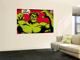 Marvel Comics Retro: The Incredible Hulk Comic Panel (aged) Mural
