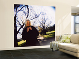 Girl in Park in Winter with Bare Trees in Background Wall Mural – Large by David Hannah