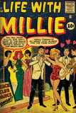 Marvel Comics Retro: Life with Millie Comic Book Cover #13, Bathing Suit, Beach Club Dance (aged) Seinämaalaus