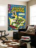 Marvel Comics Retro: Silver Surfer Comic Book Cover No.2, Fighting, When Lands the Saucer! (aged) Wall Mural
