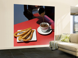 Chocolate Con Churros at the San Miguel Market Wall Mural – Large by Diego Lezama