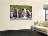 Barnafoss Waterfall Wall Mural by Douglas Steakley