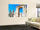 Ruins of Ein Avdat, Ancient Nabatean City in Avdat National Park. Wall Mural by Anthony Pidgeon