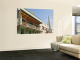 California San Francisco Chinatown Historic Building C.1928 Transamerica Pyramid in Backgroun Wall Mural by Stephen Saks