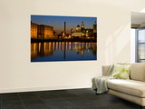 Albert Dock and the 'Three Graces' Wall Mural by Glenn Beanland