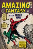 Marvel Comics Retro: Amazing Fantasy Comic Book Cover No.15, Introducing Spider Man (aged) Muurposter
