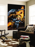Ultimate Fantastic Four No.21 Cover: Mr. Fantastic Wall Mural by Greg Land