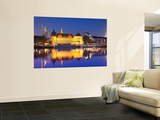 Historic Building Reflected in Main River at Dusk Wall Mural by Richard l'Anson