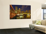 Boston Skyline at Dusk, Boston, Massachusetts, USA Wall Mural by Adam Jones