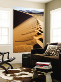 Footprints on Ridge of Sand Dune Wall Mural by Todd Lawson