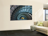 Iron Staircase of Currituck Beach Lighthouse Wall Mural by Peter Ptschelinzew
