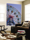 Historic Wonder Wheel Fairground, Coney Island Wall Mural by Christopher Groenhout