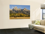 Horses and the Teton Range Wall Mural by Douglas Steakley