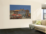 Sidewalk Cafes and Houses at Alter Markt Wall Mural by Witold Skrypczak