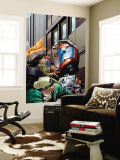 Spider-Man / Human Torch 3 Cover: Spider-Man and Human Torch Wall Mural by Ty Templeton