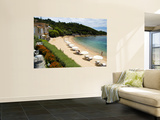 Sandy Beach at Le Maquis Resort Wall Mural by Veronica Garbutt