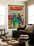 Marvel Comics Retro: Mighty Thor Comic Panel, Tales of Asgard, the Fateful Change! (aged) Wall Mural