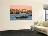 Traditional Water Taxis (Abras) Crossing Creek Wall Mural by Glenn Beanland