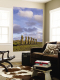 Ahu Aviki Moai Statues Wall Mural by John Elk III