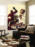 The Mighty Avengers No.12 Cover: Captain America, Giant Man, Iron Man and Thor Wall Mural