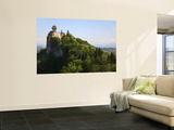 Rocca Cesta Castle Built on Highest Peak of Titan Mountain of Medieval San Marino Wall Mural by Ruth Eastham & Max Paoli